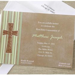 Holy Day Personalized First Communion Invitations