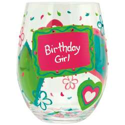 Birthday Girl Too Stemless Wine Glass