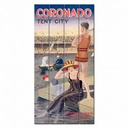Vintage Coronado Beach Wood Plank Sign