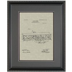 Wright Flyer Patent 11x14 Framed Art