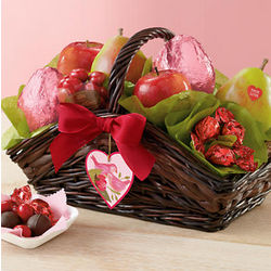 Valentine's Day Fruit and Chocolate Gift Basket