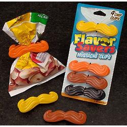 Flavor Savers Mustache Chip Clips