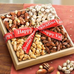 Nuts Over You Valentine Nut Assortment Tray