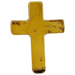 Hope Glass Topaz Pocket Cross