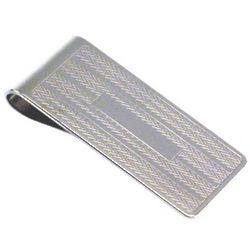 Engravable Wheat Lines Money Clip