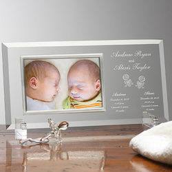 Twin Blessings Personalized Baby Frame