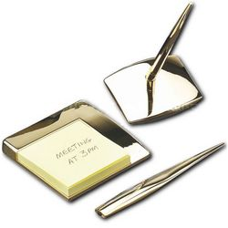 4 Piece Gold Desk Accessory Set