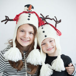 Child's Handcrafted Snowman Hat