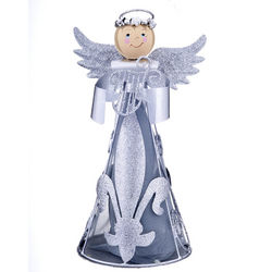 Personalized Angel with Silver Harp Figurine