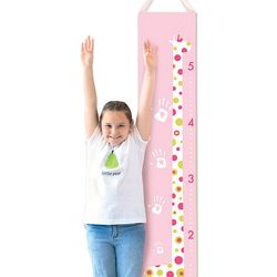 Pink Giraffe Handprint Growth Chart