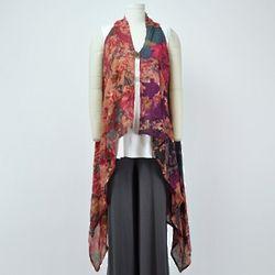Long Floral Artist Vest