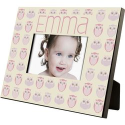 Girls Owl Pattern Personalized 4x6 Frame