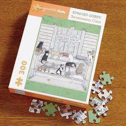 Edward Gorey Seventeen Cats Jigsaw Puzzle