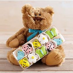 Secret Garden Cookies with Teddy Bear