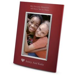 Portrait Classic Bevel Red Picture Frame