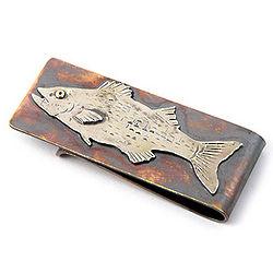 Striped Bass Bronze Money Clip