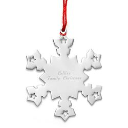 Personalized Metal Snowflake Ornament