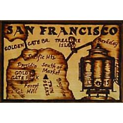 San Francisco Map Leather Photo Album in Natural