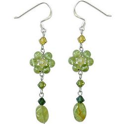 Sweet Eternal Peridot Dangle Earrings