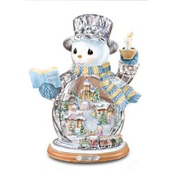 Precious Moments Holiday Joy Crystal Snowman Figurine
