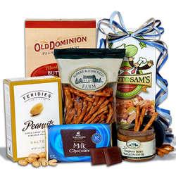 Kosher Hanukkah Gift Basket Stack