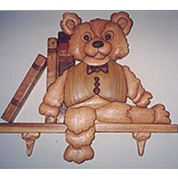 Teddy Bear Intarsia Wall Hanging