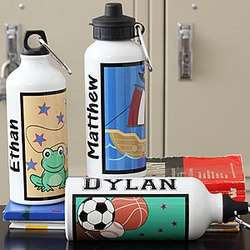 Personalized Kids' Designs Water Bottle for Boys