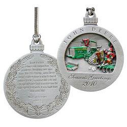 John Deere 2010 Pewter Christmas Ornament