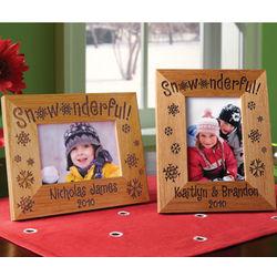 Personalized Snowonderful Frame
