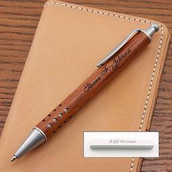 Rosewood Starlight Ballpoint Pen