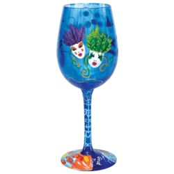New Orleans Hand-Painted Wine Glass