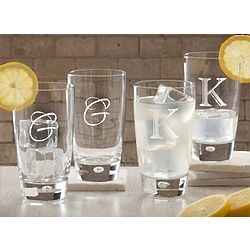 Initial Monogrammed Personalized Tumblers