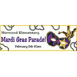 Bourbon Street Mask Mardi Gras Banner