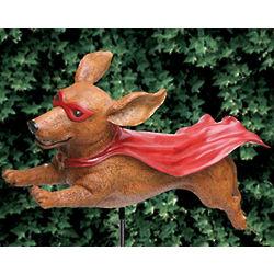 Super Wiener Dog Garden Sculpture