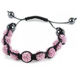 Pink Cubic Zirconia Disco Ball Bracelet