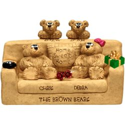 Personalized Grandparents with Family Couch Figurine