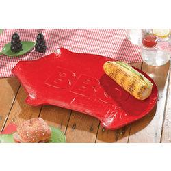 Ceramic Pig BBQ Serving Platter