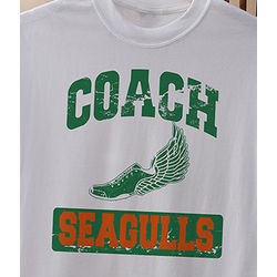 Personalized Sports Coach T-Shirt