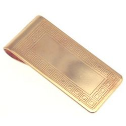 Personalized Gold Tone Celtic Scroll Money Clip