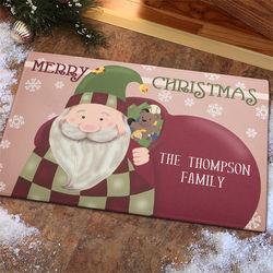 Vintage Santa Personalized Standard Doormat