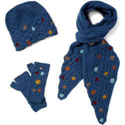 Honeycomb Hat, Scarf and Handwarmers