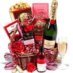 Couple's Romantic Anniversary Gift Basket