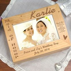 Personalized Maid of Honor Photo Wooden Box
