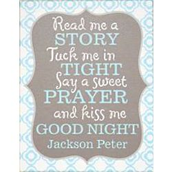 Child's Sleepytime Rhyme Personalized Wall Art