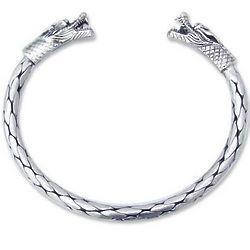 Power of Dragons Sterling Silver Cuff Bracelet