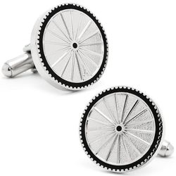 Sterling Silver Cyclist Cufflinks
