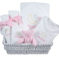 Lullaby Pink Baby Gift Basket