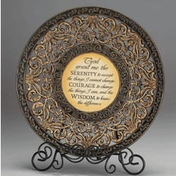 Serenity Prayer Plaque with Stand