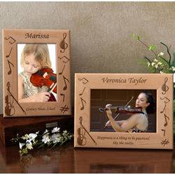 Personalized Violin Wooden Picture Frame