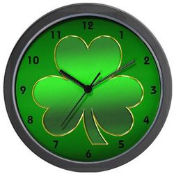 St. Patrick's Day Wall Clock